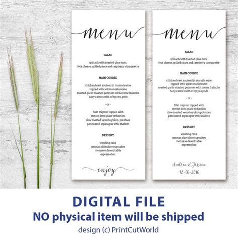 top 25 ideas about menu cards on pinterest wedding menu