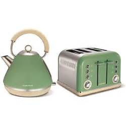 History Of Toasters Morphy Richards Sage Green Kettle And 4 Slice Toaster Ebay