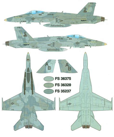 Dh 615 Kiara Navy Mcdonnell Douglas F A 18c Hornet Three Gray Camouflage
