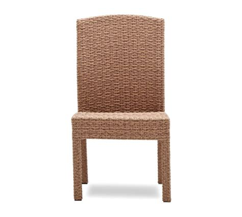 Armless Patio Chairs Strathwood Griffen All Weather Wicker Dining Armless Chair Set Of 2