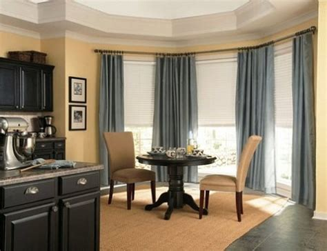 Window Treatment Ideas For Large Windows Inspiration Dining Room Bay Window Treatment Ideas