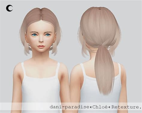 sims 4 child hair kalewa a chloe child hair retextured sims 4 hairs