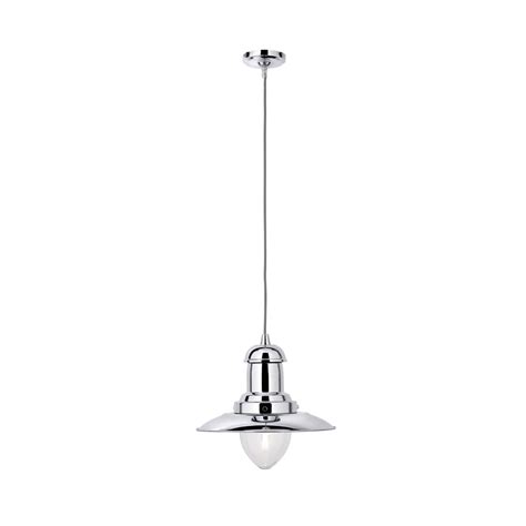 searchlight 4301cc fisherman 1 light chrome ceiling pendant