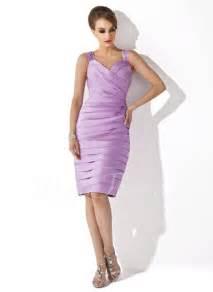 Dress Wanita Azzurra 348 48 sheath column sweetheart knee length satin of the dress with ruffle beading