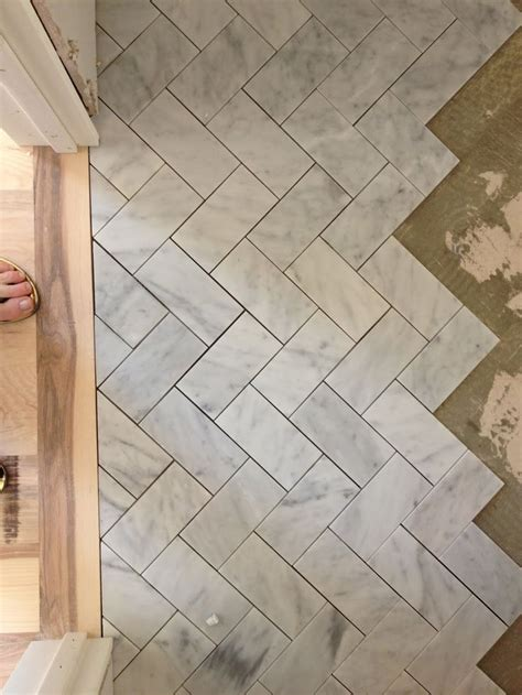 floor tile patterns bathroom herringbone floor subway tile home misc