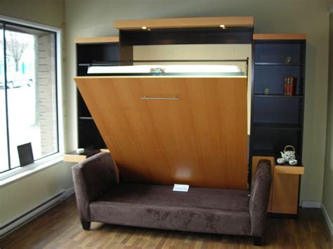 Murphy Bed With Couch Plans Maximize Small Spaces Murphy Bed Design Ideas