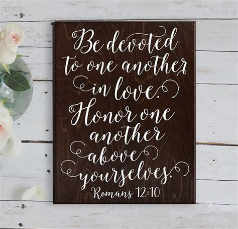 bible marriage vows verse romans 12 10 bible verse wall bible verse wedding gift