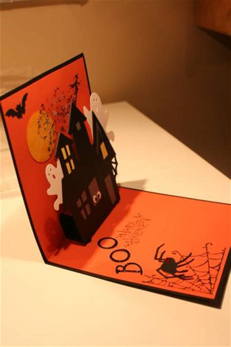 stin up cards to make haunted house by figaro cards and paper