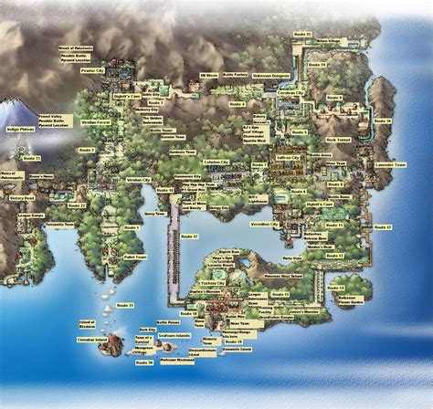 kanto map map of kanto kanto 8 bit and maps