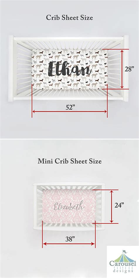 Standard Size Crib Mattress Dimensions Standard Crib And Mini Crib How Are They Different Carousel Designs
