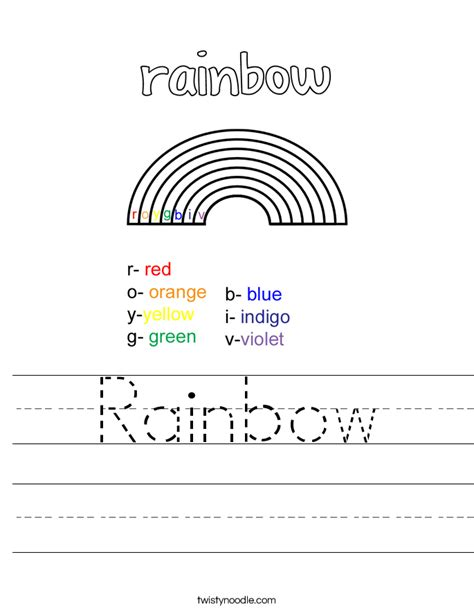 r is for rainbow worksheet twisty noodle rainbow worksheet twisty noodle