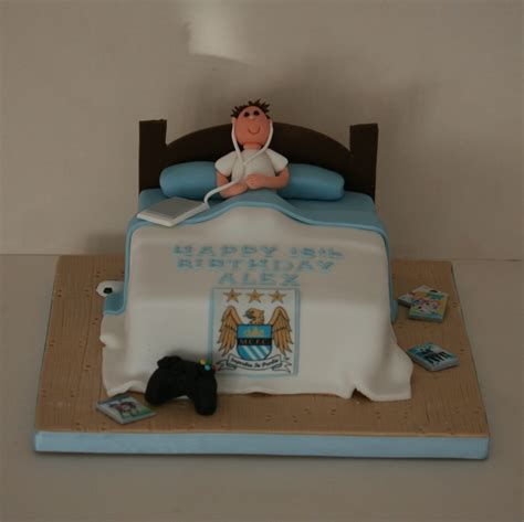 How To Become A Home Decorator by Manchester City Theme Bed Cake