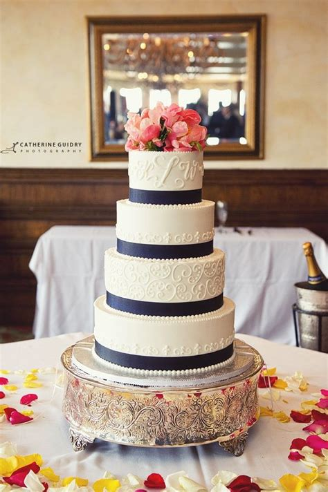 navy blue and coral wedding navy blue and coral wedding wedding cake with coral