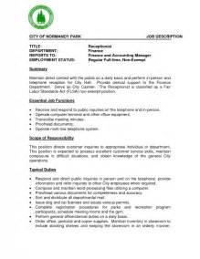 Examples Of Job Descriptions For Resumes Medical Customer Service Job Description Anuvrat Info