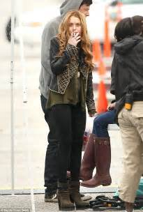 Lindsay Lohan Working On The Set Of I Kno lindsay lohan slammed for being late and unprepared on
