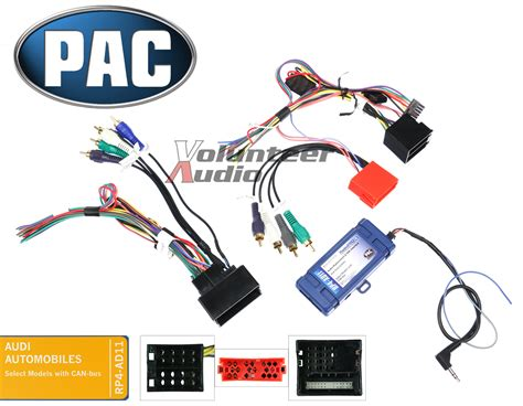 pac rp ad select audi radio install wiring harness interface premium sound ebay