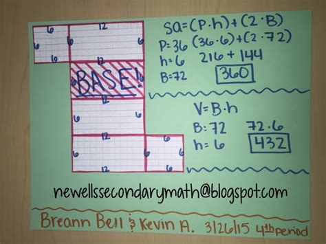 Surface Area Amp Volume Of Prisms Unit Mrs Newell S Math
