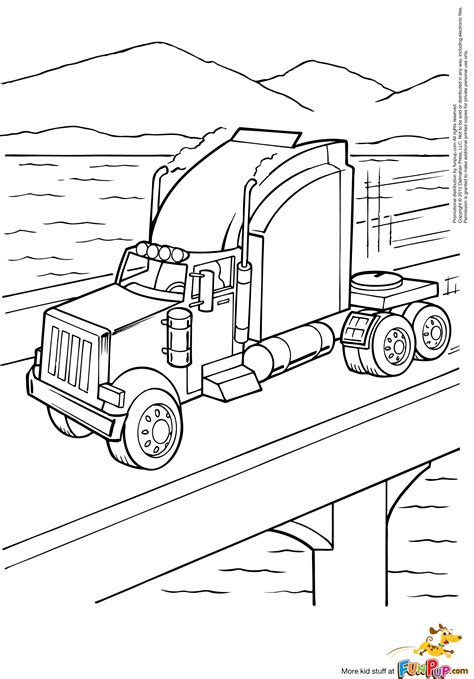 mack big rig coloring pages coloring pages
