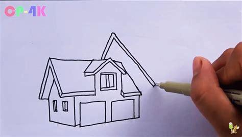 tutorial menggambar sketsa bangunan menggambar dan mewarnai vila moderen untuk anak sd