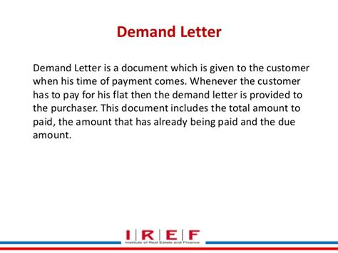Demand Letter By Builder C Re 5a