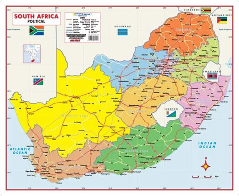 free printable road maps south africa south africa political wall map mapstudio