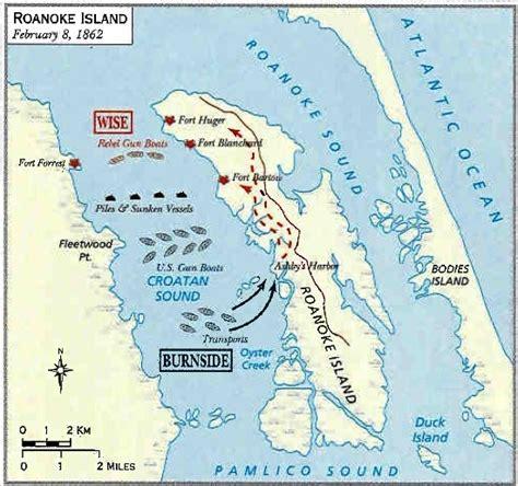 roanoke carolina map the battle of roanoke island american civil war fort