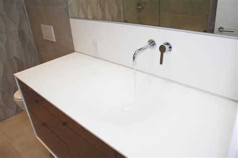 Corian Glacier by Vanishing Custom Thermoformed Corian Sink Two And Two