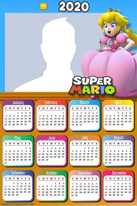 super mario bros calendario   imprimir gratis   fiesta friki