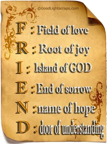 for friends friendship foundation truths