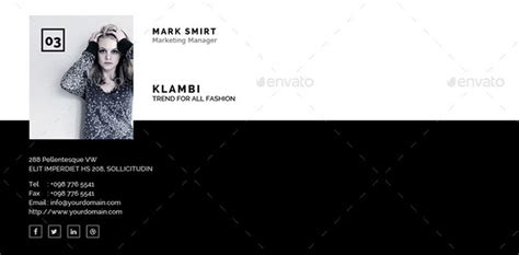 15 Awesome Email Signature Psd Templates Web Graphic Design Bashooka Email Signature Illustrator Template