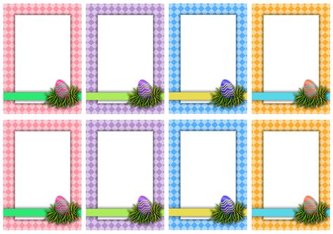 blank clue card template printable easter scavenger hunt cards doodles