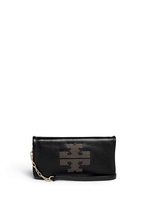 Burch Stud Cross Bag burch reva logo stud leather crossbody bag in black lyst