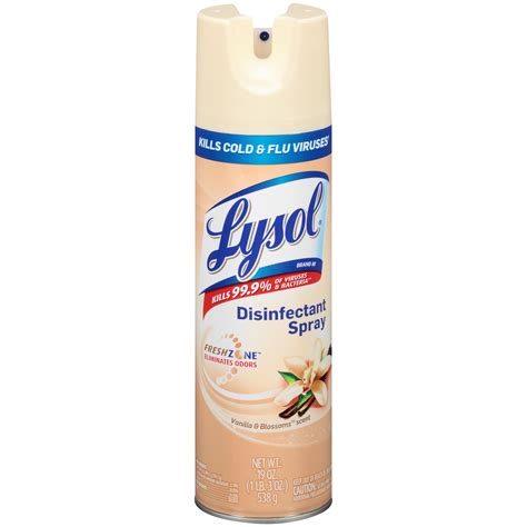 lysol vanilla blossoms disinfectant spray kmart