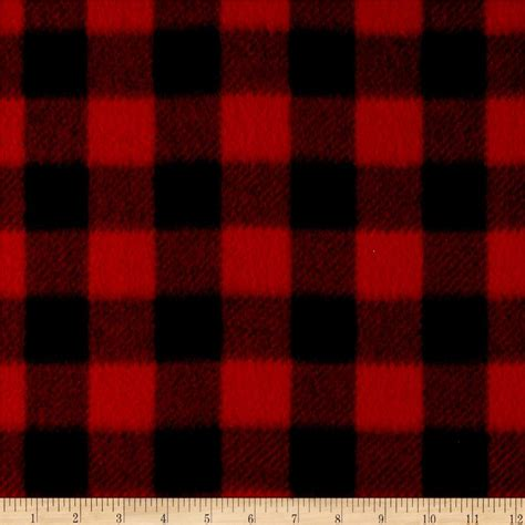 what is plaid winter fleece buffalo plaid red discount designer fabric