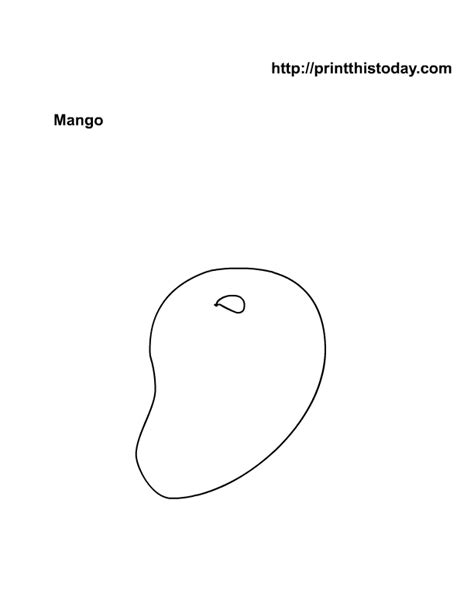 mango coloring pages preschool free printable fruits coloring pages