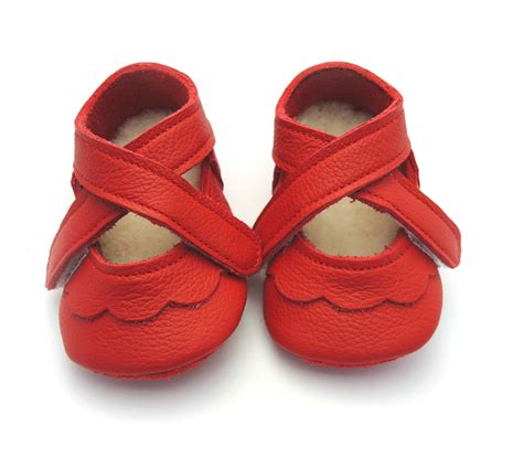 Handmade Leather Baby Shoes - handmade leather soft soled baby shoes with lambswool