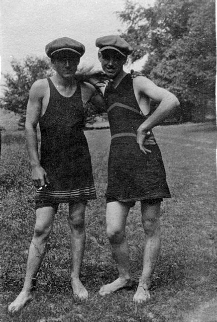 pic of men in female swinsuits old fashioned swimsuits for men above two young men