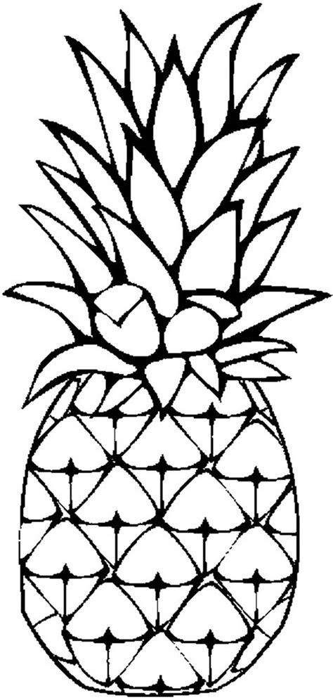 pineapple color a sweet caribbean pineapple coloring page a sweet