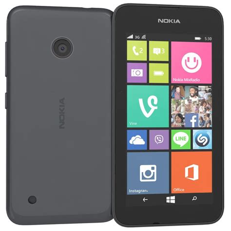 nokia lumia 530 next g windows 8 1 grey cpu