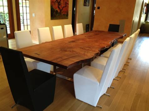 Custom Made Dining Room Furniture Slab Dining Table Traditional Dining Room New York By Custom Made Wood Furniture