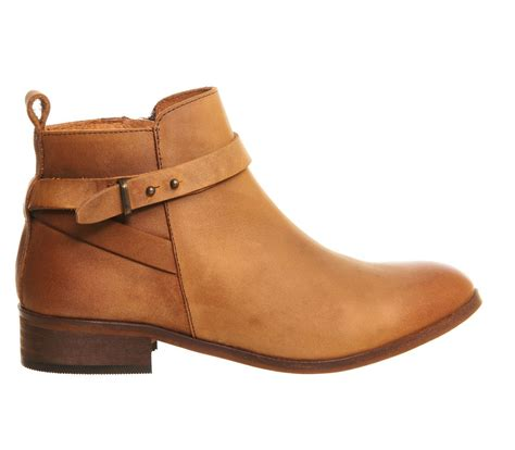 office instinct ankle boots in brown lyst