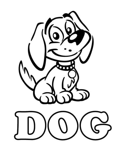 cat dog free printable coloring pages preschool