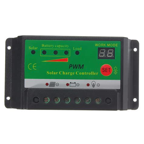 10a 12v 24v Solar Charge Controller With Lcd Display Au Diskon 10a 12v 24v lcd solar panel battery regulator charge
