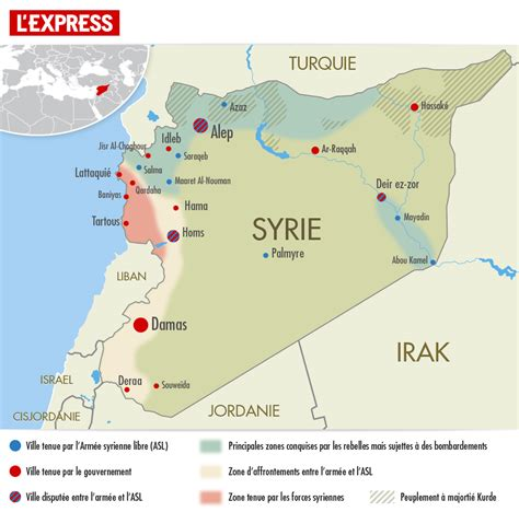 carte syrie israel