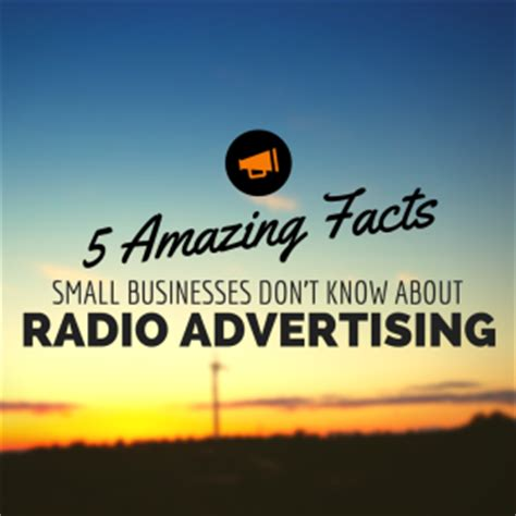 5 amazing facts small businesses don't know about radio