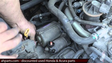2005 honda odyssey starter replacement how to change or replace a starter motor 2001 2002 2003