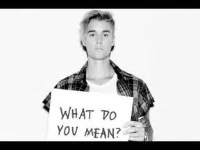 New single justin bieber what do you mean audio only youtube