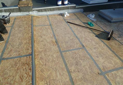 decke osb flat roof decking osb v ply 171 epdm rubber and liquid flat