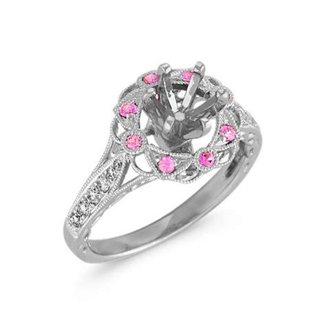 vintage pink sapphire engagement rings www pixshark