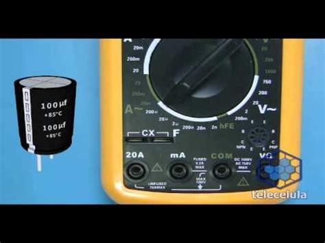 como testar capacitor 1000uf teste do capacitor eletrol 237 tico como usar o capac 237 metro como testar capacitor parte ii